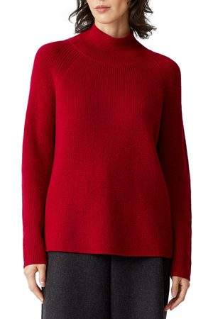 Eileen Fisher Women's Raglan Sleeve Merino Wool Turtleneck Sweater