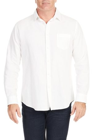 Johnny Bigg Men's Anders Relaxed Fit Button-Up Linen & Cotton Shirt