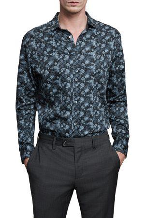 John Varvatos Men's Ross Slim Fit Button-Up Sport Shirt