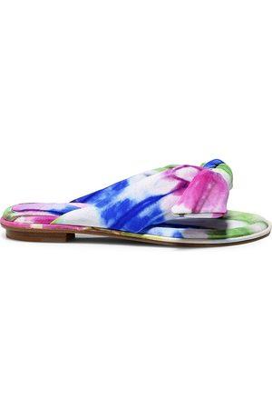 ALEXANDRE BIRMAN Women's Clarita Bow Tie-Dye Leather Sandals - - Size 11