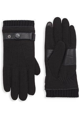 Bickley+Mitchell Men's Leather-Trim Gloves - - Size Medium