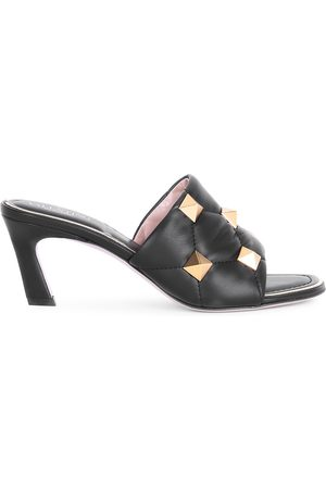 VALENTINO Women's Garavani Roman Stud T.65 Leather Slide Sandals - - Size 41.5 (11.5)