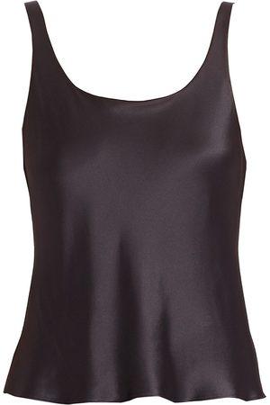 Natori Women's Key Double Layer Silk Tank Top - - Size Large