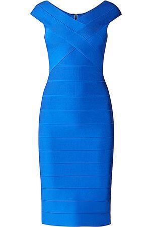 Hervé Léger Women's Icon Crossover Bust Bodycon Dress - - Size XXS