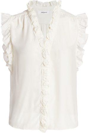 Frame Women's Lauren Silk Top - - Size XL