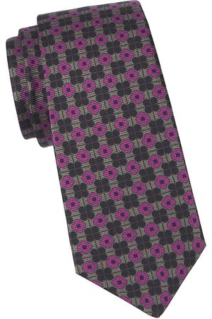 Kiton Men's Floral Medallion Silk Tie