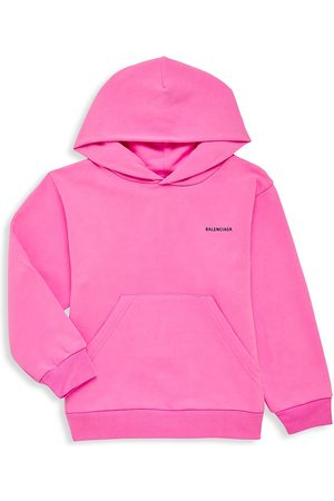 Balenciaga Hoodies - Little Kid's & Kid's Logo Fluorescent Hoodie - Bubble Gum - Size 6