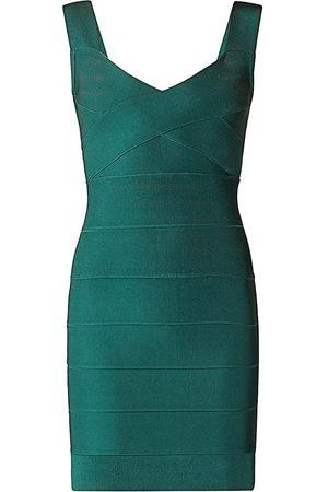 Hervé Léger Women's New Icon Criss Cross Bodycon Dress - - Size XS