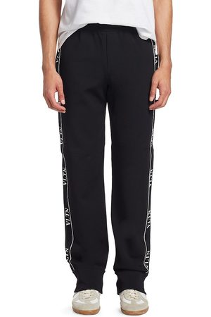 VALENTINO Men's Logo Trim Track Pants - - Size Large