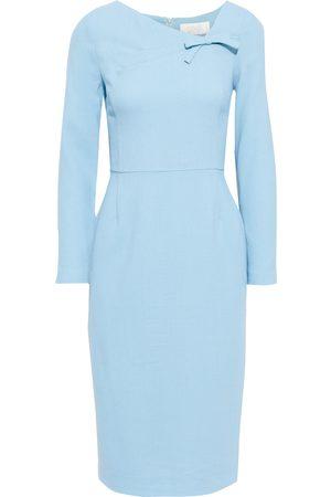 GOAT Women Midi Dresses - Woman Justine Bow-embellished Wool-crepe Midi Dress Light Size 10