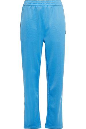 Acne Studios Women Straight Leg Pants - Woman Jersey Straight-leg Pants Azure Size M