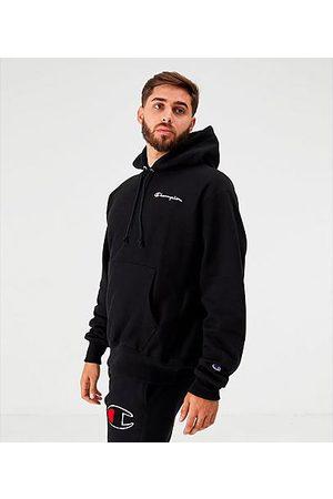 Champion Men Hoodies - Men's Reverse Weave Embroidered Logo Hoodie in Size Large Fleece
