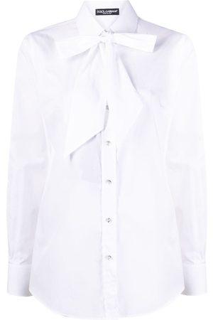 Dolce & Gabbana Pussybow collar cotton shirt