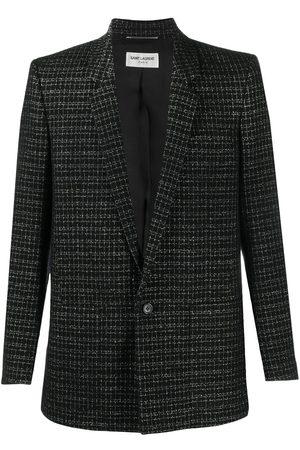 Saint Laurent Single-breasted check blazer