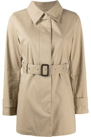MACKINTOSH Short Roslin belted trench coat - Neutrals