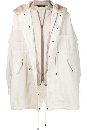Mr & Mrs Italy Hooded parka coat - Neutrals