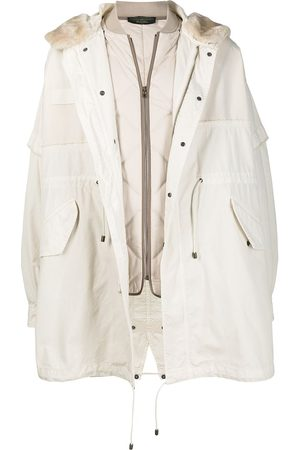 Mr & Mrs Italy X Nick Wooster hooded parka coat - Neutrals