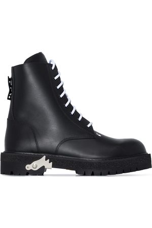 OFF-WHITE Lace-up combat boots