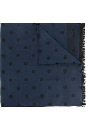 Church's Polka-dot frayed scarf