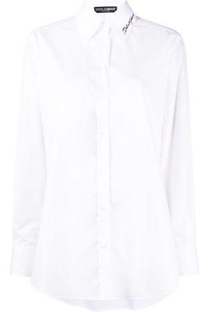 Dolce & Gabbana Embroidered poplin shirt
