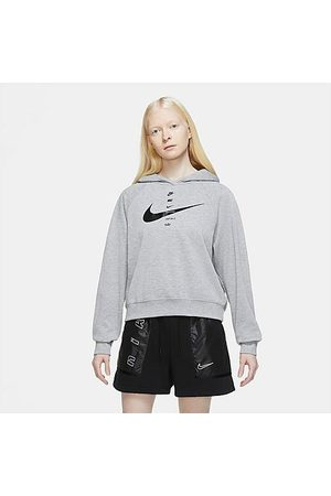 Nike Women Hoodies - Women's Sportswear SWOOSH Hoodie in Grey