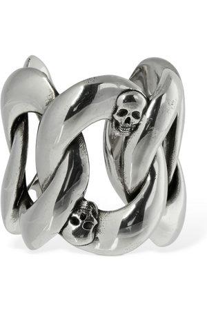 Alexander McQueen Men Rings - Skull & Chain Open Band Ring