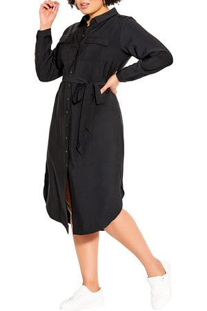 City Chic Plus Size Women's Love Belted Shirtress