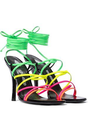 The Attico Fiona patent leather sandals