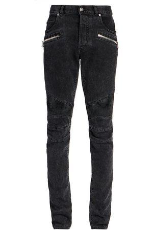 Balmain Men Slim - Men's Ribbed Slim-Fit Jeans - - Size 36