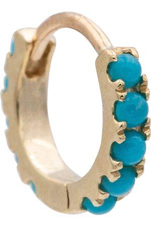 Maria Tash Eternity 14kt single hoop earring with turquoise