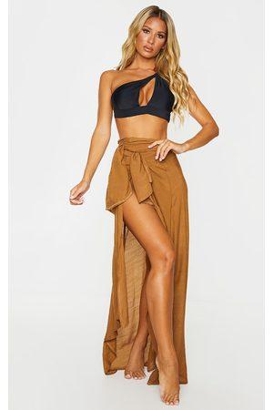 PRETTYLITTLETHING Women Beachwear - Linen Look Maxi Beach Sarong
