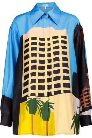 Loewe X Ken Price printed silk shirt