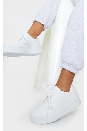 PRETTYLITTLETHING Platform Sole Chunky Lace Sneakers