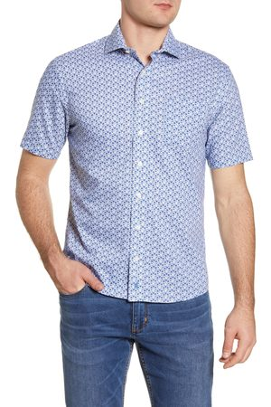 Johnnie-o Men's Marco Prep-Performance Floral Short Sleeve Button-Up Shirt