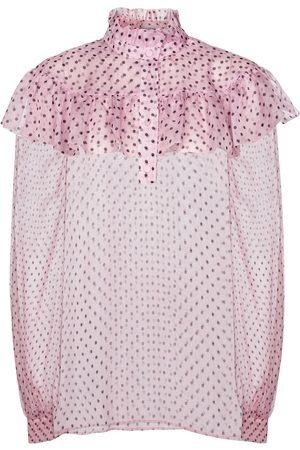 Serafini Polka-dot chiffon blouse