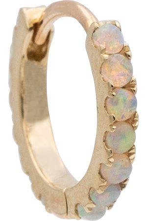 Maria Tash 18kt single hoop earring with opals
