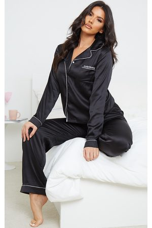 PRETTYLITTLETHING Women Pajamas - Tall Satin Pocket Long PJ Set
