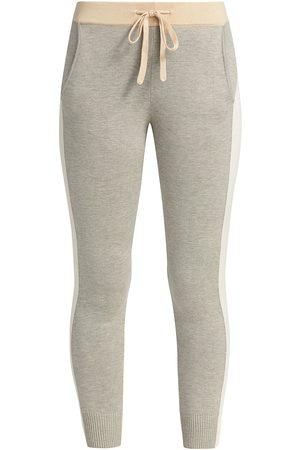 MONROW Women's Colorblock Sporty Sweatpants - - Size Small