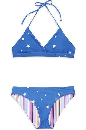 Splendid Girl's Twinkle Reversible Two-Piece Bikini - - Size 10