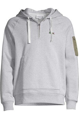 Lacoste Men's Quarter Zip Pocket-Sleeve Hoodie - - Size 9 (4XL)
