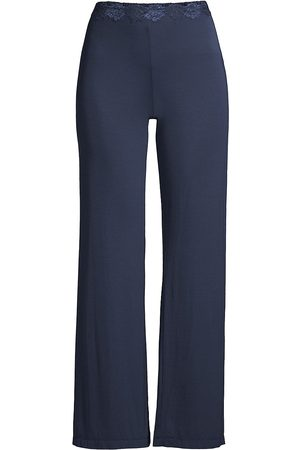 Natori Women's Lace Waist Stretch Lounge Pants - - Size Large