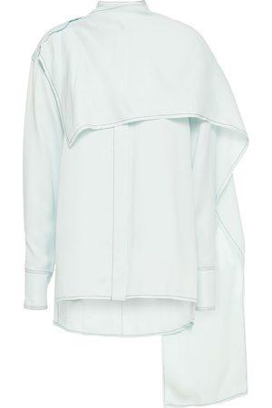Proenza Schouler Woman Draped Twill Shirt Sky Size 0