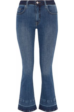 Victoria Victoria Beckham Woman Faded Mid-rise Kick-flare Jeans Mid Denim Size 30