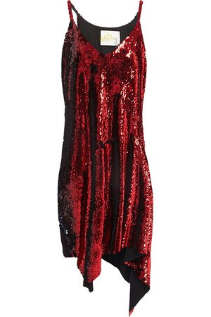 MARQUES'ALMEIDA Woman Asymmetric Sequined Stretch-crepe Dress Size L