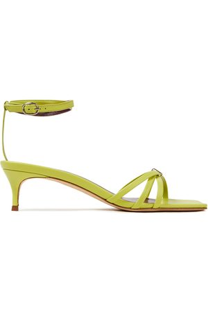 By Far Woman Kaia Patent-leather Sandals Lime Size 35