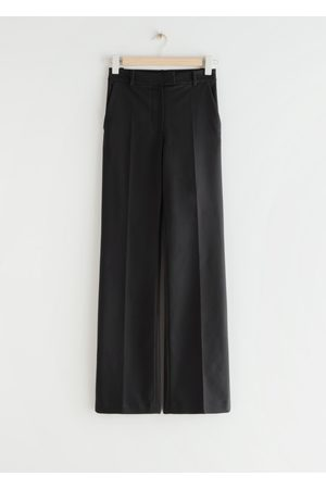 & OTHER STORIES Fitted Press Crease Zip-Cuff Trousers