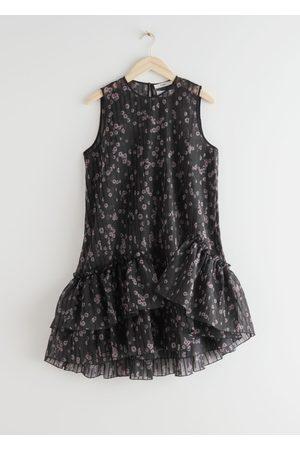 & OTHER STORIES Voluminous Asymmetrical Ruffle Mini Dress