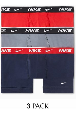 Nike Cotton Stretch 3-pack boxer briefs in red/gray/navy-Multi