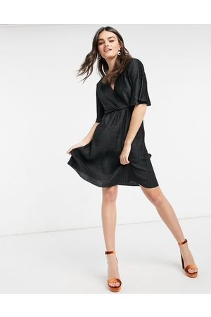VILA Wrap mini dress in