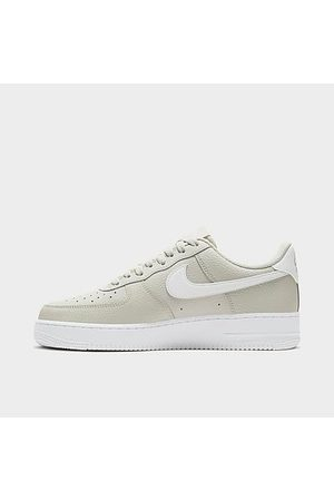 Nike Men's Air Force 1 '07 Casual Shoes in Grey/Light Bone Size 15.0 Leather